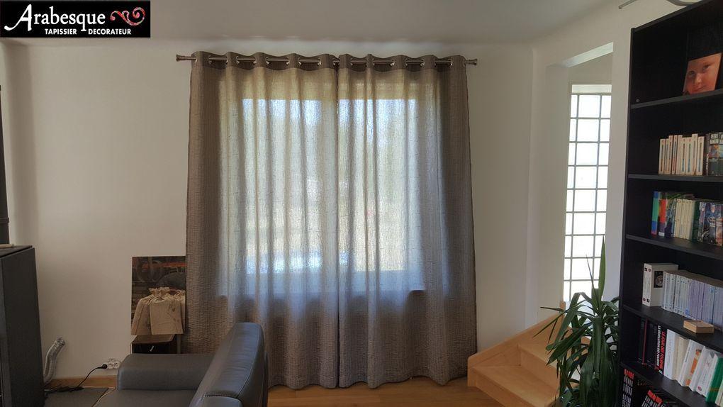 installation tringle et confection de rideaux arabesque thiers lezoux tapissier decorateur