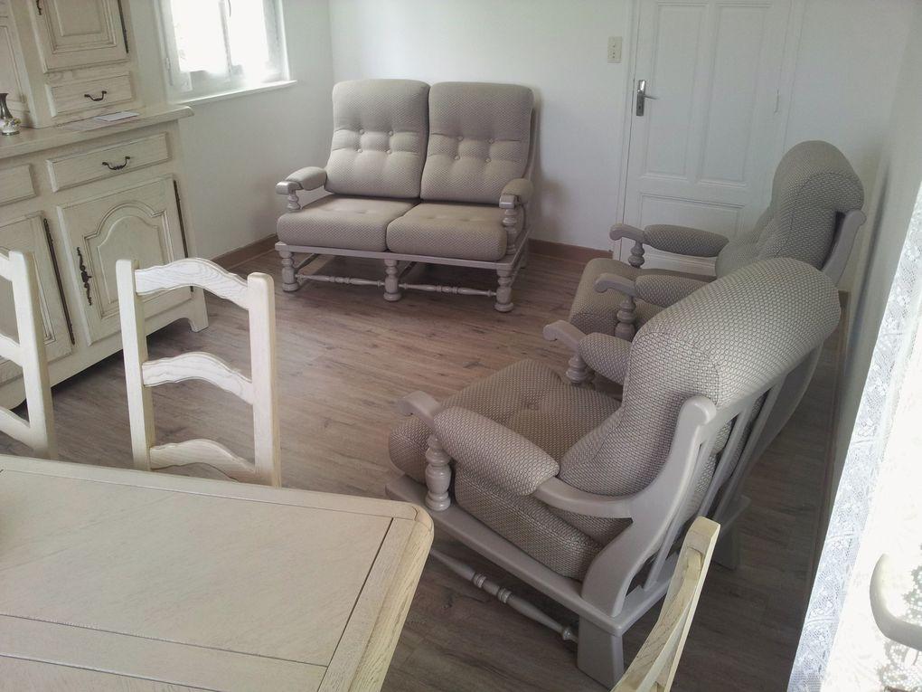 refection complète et peinture salon fauteuil et canapé arabesque thiers 63 saint remy la monnerie