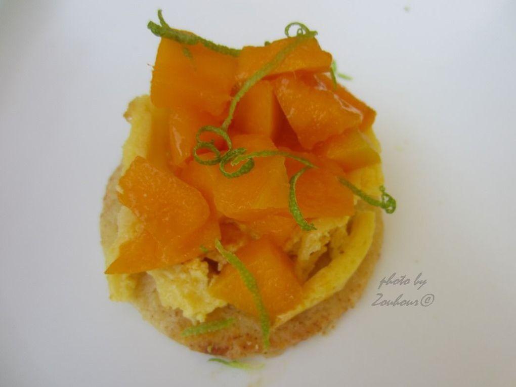Cheese cake aux mangues et fruit de la passion