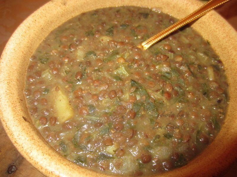 Soupe de Lentilles aux blettes (selek), Adass bil hamoud
