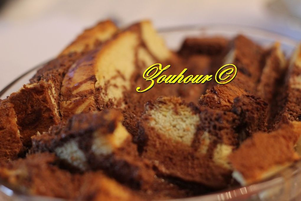 Pain Perdu Brioché Au Chocolat (French toast with chocolate)