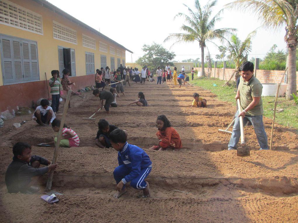 Installation des jardins pédagogiques