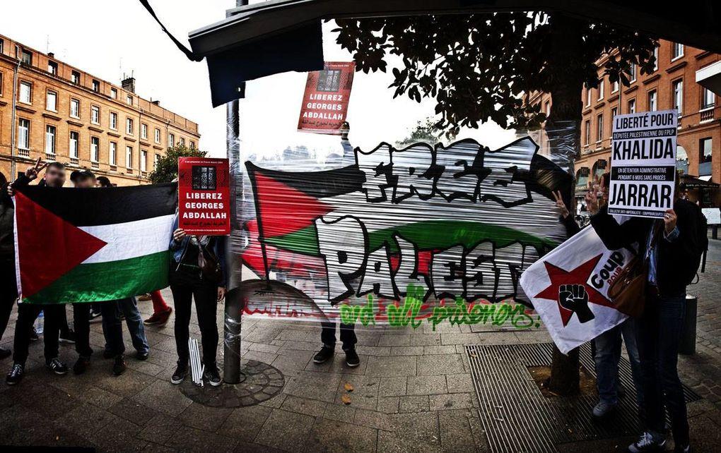 Plus de 150 personnes en soutien aux prisonniers palestiniens !