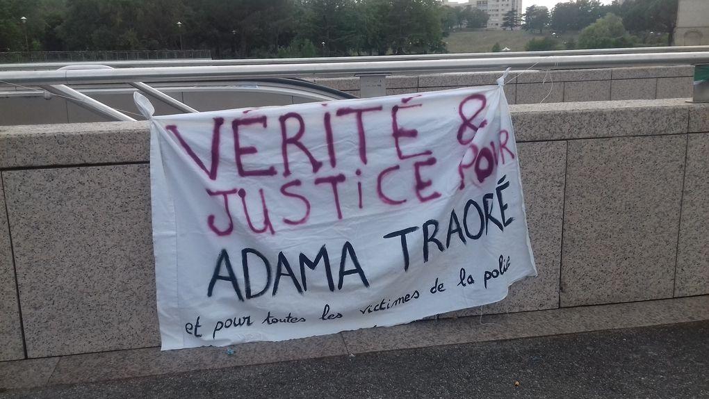 Toulouse : solidarité avec la famille et les proches d'Adama Traoré, tué par la police.