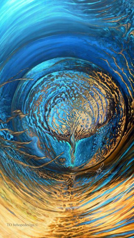 """Peinture à l'huile """"Last Time"""" 2X3 m Photographies en inversion de polarité. TO ©"""