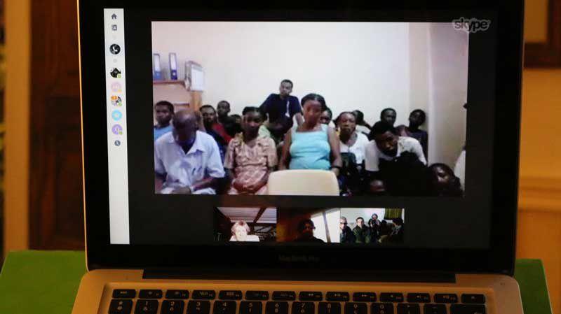 Skype avec les parents d'élèves de Lokaro