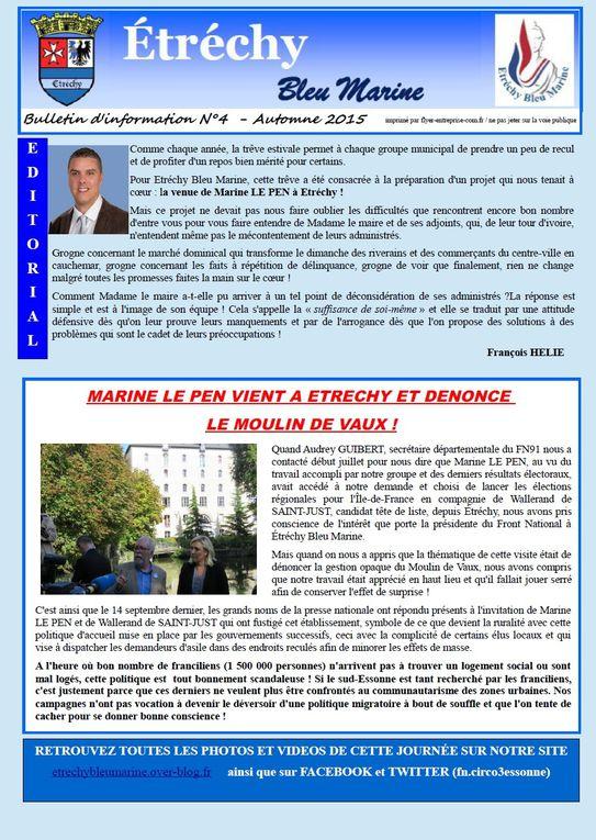 JOURNAL N°4 D'ETRECHY BLEU MARINE