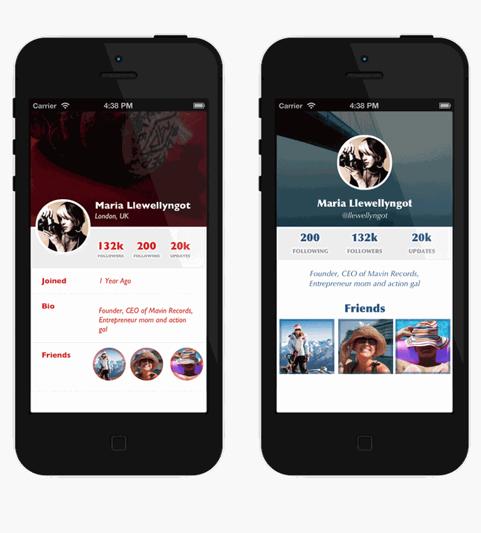 iPhone Flat Design UI