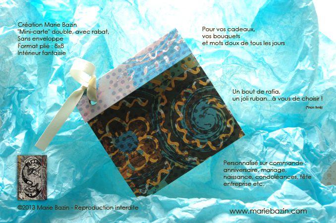 Mini-cartes à bouquets Création Marie Bazin / Two FiSh en l'Air   © 2013 Marie Bazin