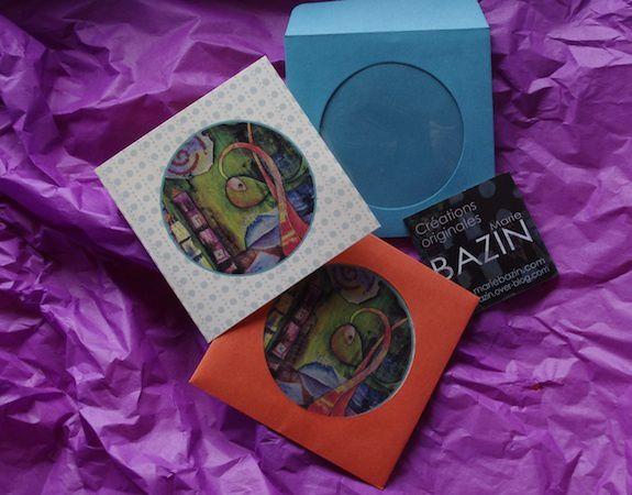 Mini-cartes à cadeaux originales, ou cartes La Criée pour des vœux frais...Reproduction interdite
