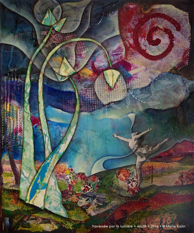 Trois nouvelles toiles, direction Sannois à peine sorties de l'atelier...