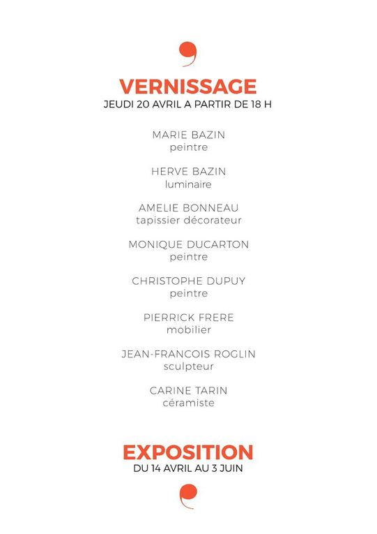 Source d'inspiration, vernissage-inauguration le jeudi 20 avril 2017