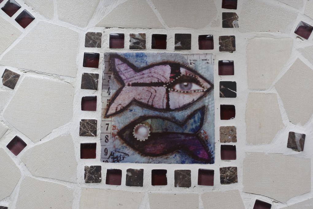 Carrelage faïence 10x10 Mat ou brillant- Reproduction La Criée. À voir à l'atelier, Meyssac (19) ou sur  https://www.etsy.com/fr/shop/Twofishenlair