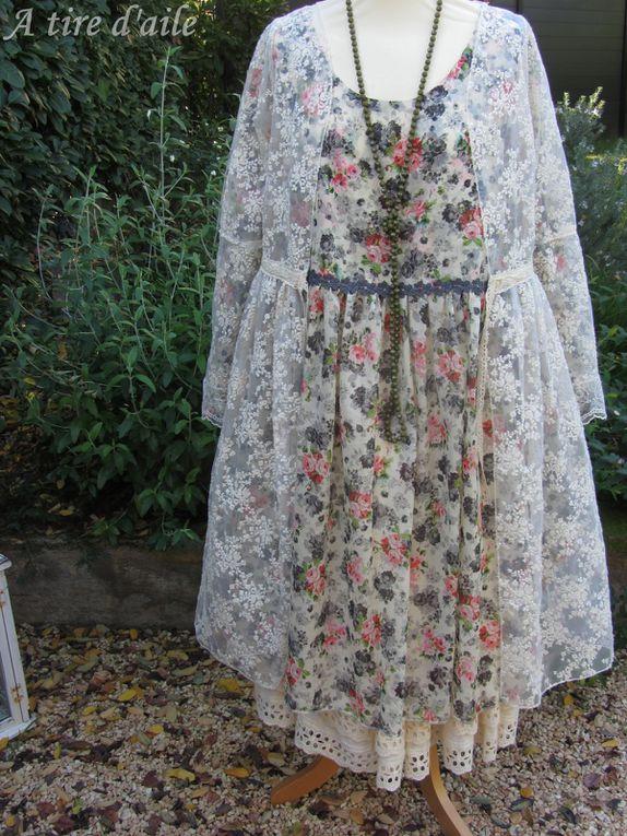 Robe voile de coton fleuri