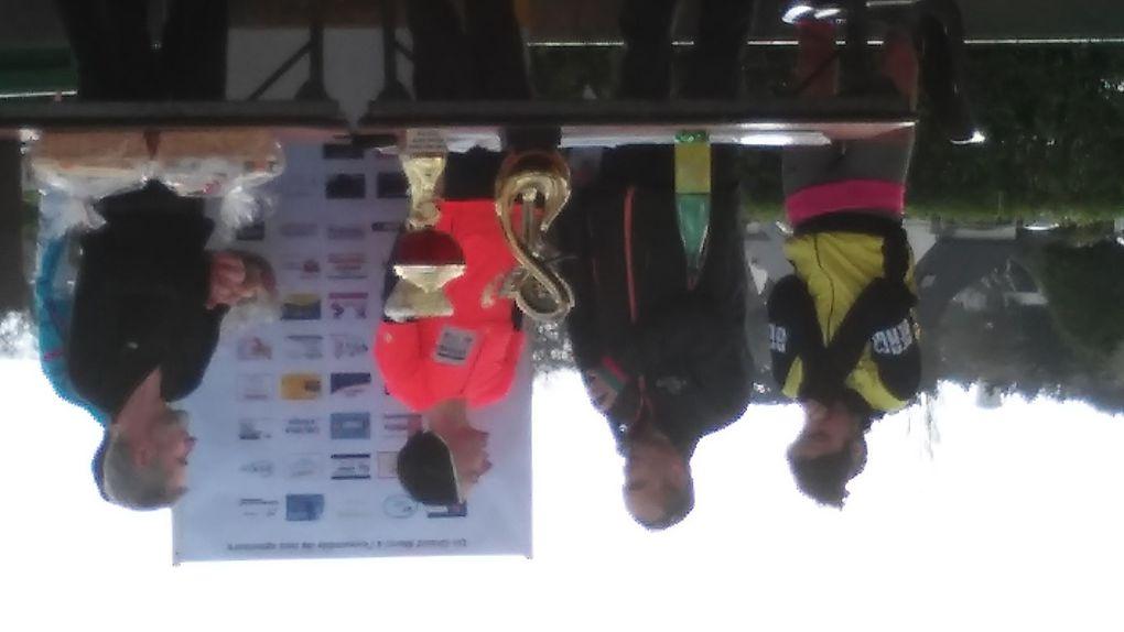 Photos du podium au Trail des 2 Rives