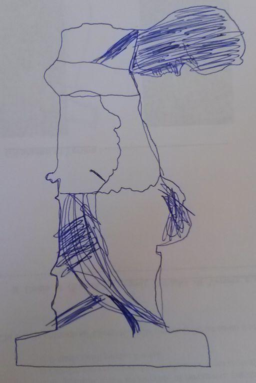 EXERCICE de croquis sans lever le stylo. Mise en lumière de la posture et du mouvement.