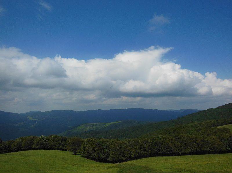 Des hauteurs du Markstein vers la  vallée et le vignoble en passant par Soultz, Guebwiller, Soultzmatt, Kaysersberg et Rouffach