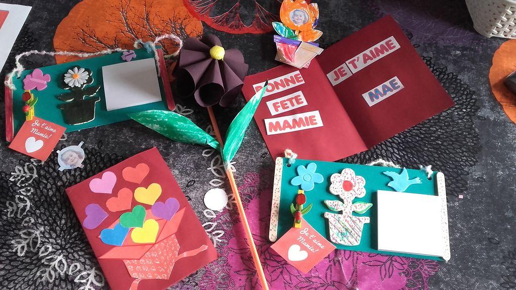 fête des mamies 2016 : memo , petit cadre photo , fleur et carte