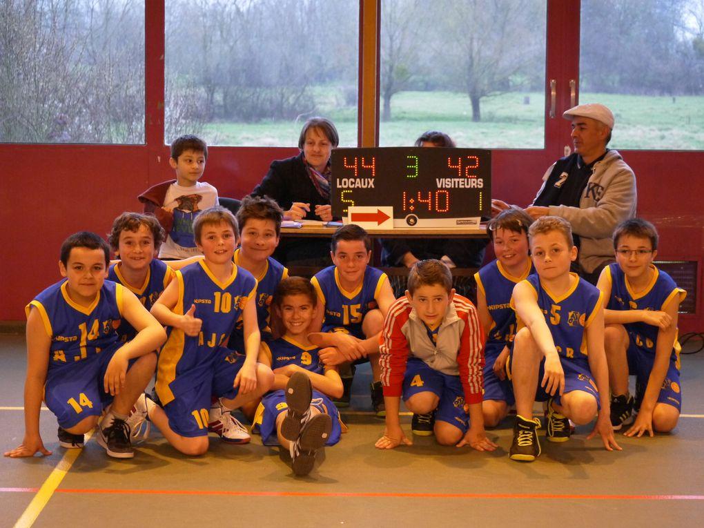 Belle victoire de nos U13M (Léo B, Alexis, Ethan, Nicolas, Théo, Simon, Antonin, Pierrick, Tom, Léo M.) contre St Apo 2.