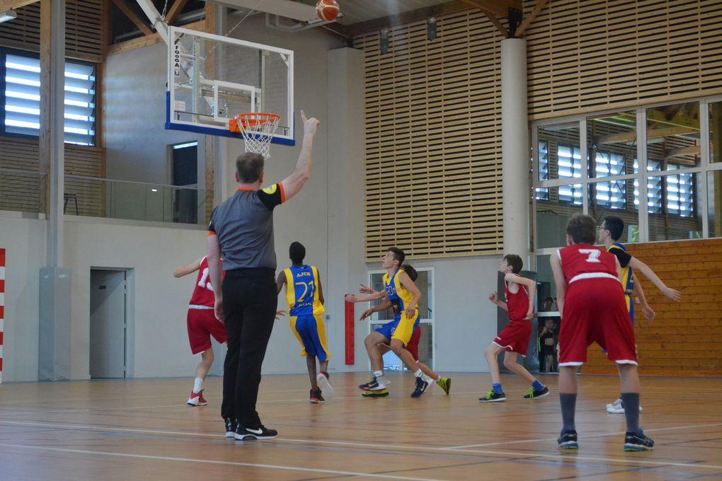 Match U15M à Mirebeau : AJCB - Semur, Avec les joueuses Anaïs, Lara, Taïna, Léa, Loïs et Margaux en supportrices