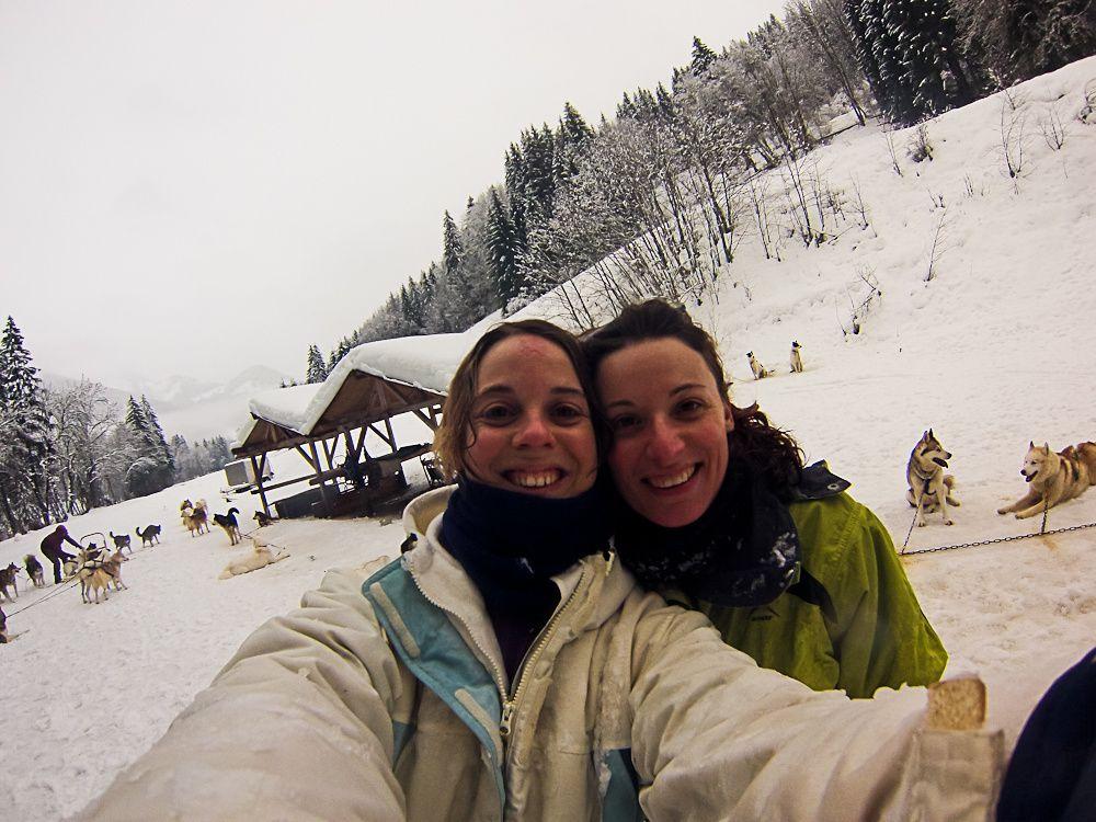 la neige !!!! et en plus avec notre amie Florence. Que du bonheur ...