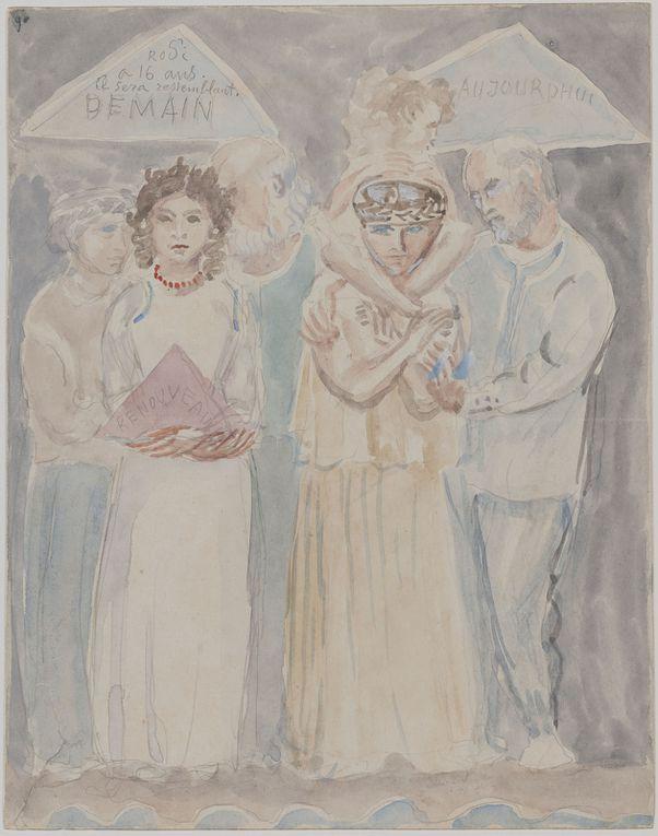 Rhodia, sa mère Cléopâtre et son père Antoine Bourdelle