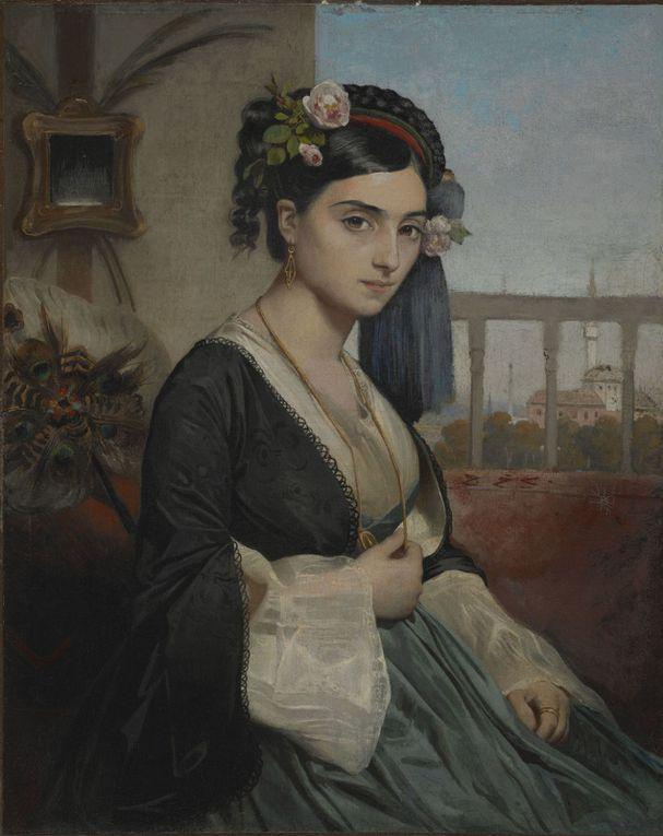 Peintre arménien de Smyrne &#x3B; Femme turque Dudo