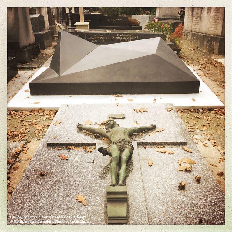 Tombeau Causse au cimetière du Montparnasse &#x3B; Phares -Milène Guermont