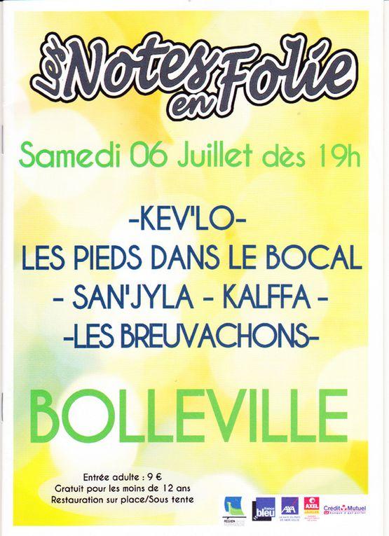 """Festival """"les notes en folies"""" à Bolleville"""
