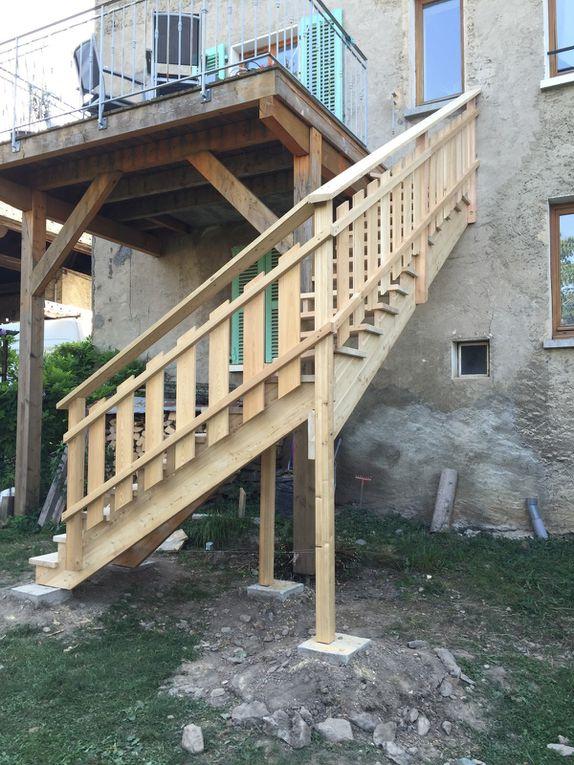 Fabrication sur mesure escaliers bois
