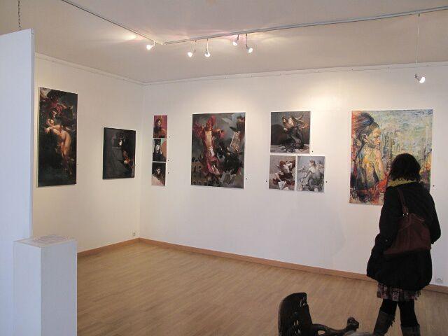 """Photos de l'accrochage à """"L'Atelier 13-15"""" de la rue Marceau à Tourcoing"""
