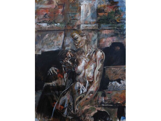 Huiles sur toile et fusain en exposition