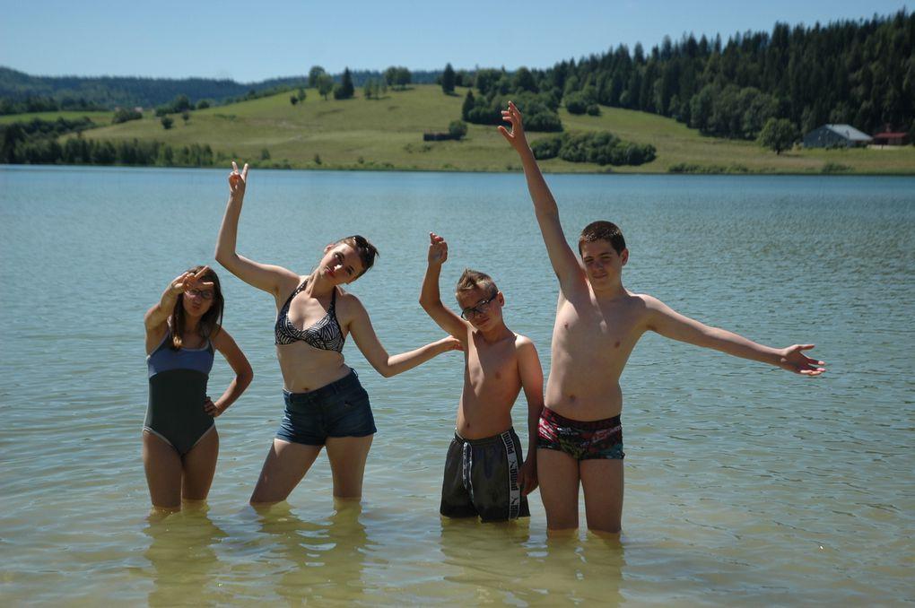 Sortie au lac de Remoray avec quelques élèves