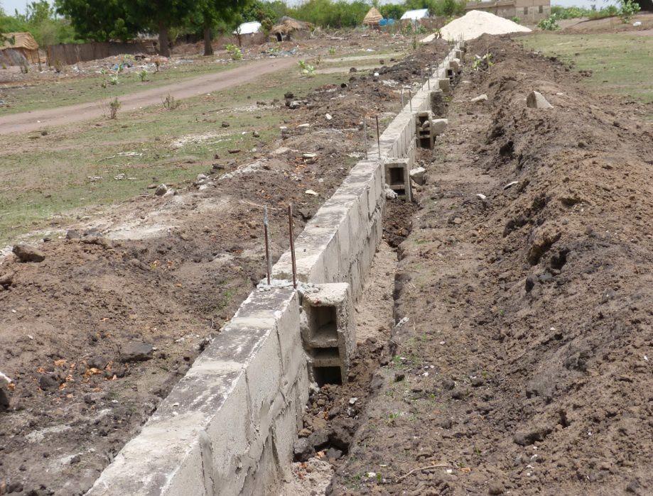 Etat des travaux sur la clôture au 8 août 2014
