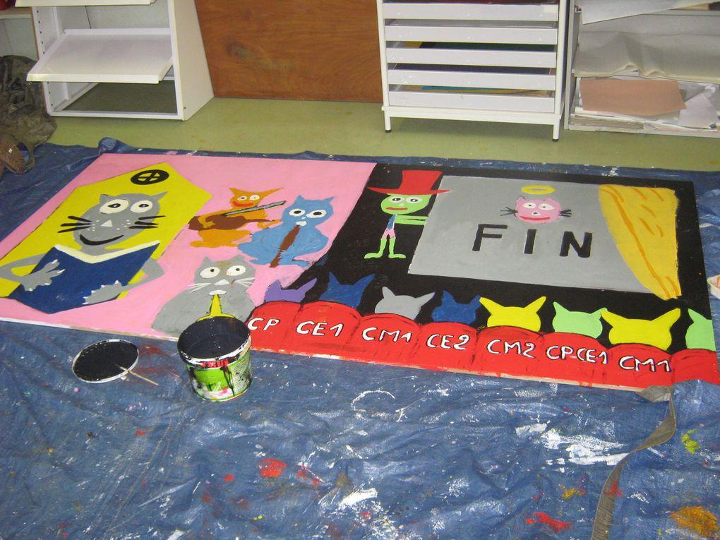 Réalisation d'une fresque - sept à dec 2013 et partenariat avec les APS