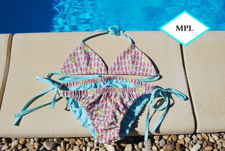 #maillot de bain Dune#Papillon et mandarine# tissus Mondial Tissu