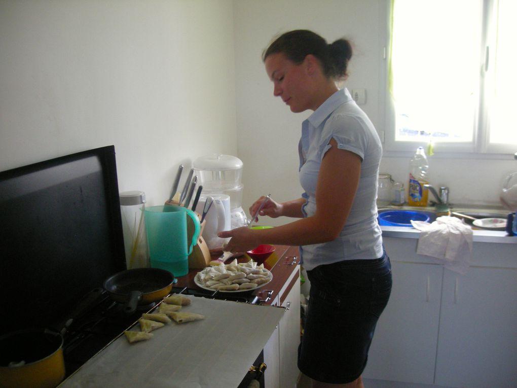 Mon atelier culinaire pour un enterrement de vie de jeune fille.
