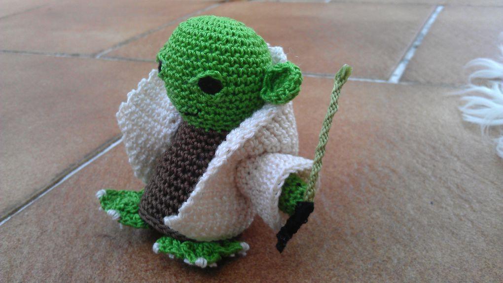 Amigurumi: Yoda fait au crochet