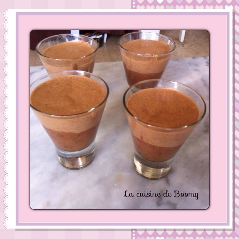 Verrines  duo de mousses au chocolat
