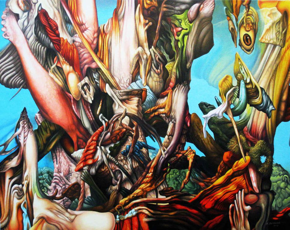 Exposition Bernard Dumaine - Séries - dessins/peintures