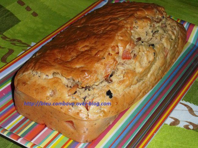 Cake Oignons Olives Bleu