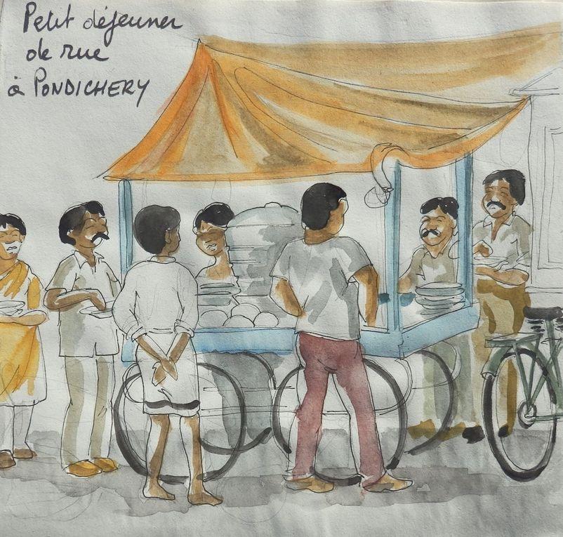 périple en Inde du Sud avec un calepin de croquis