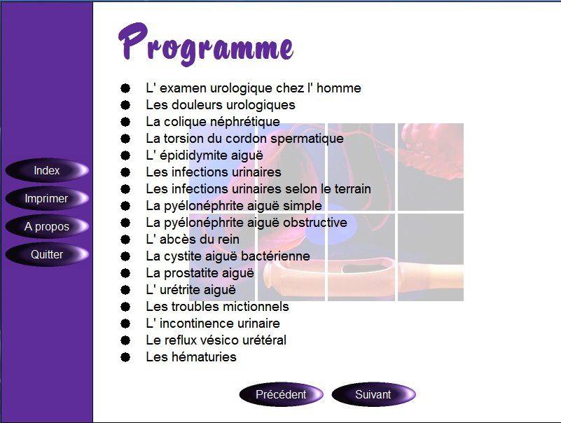 Télécharger le CD-ROM des cours de sémiologie médicale d'Urologie Néphrologie