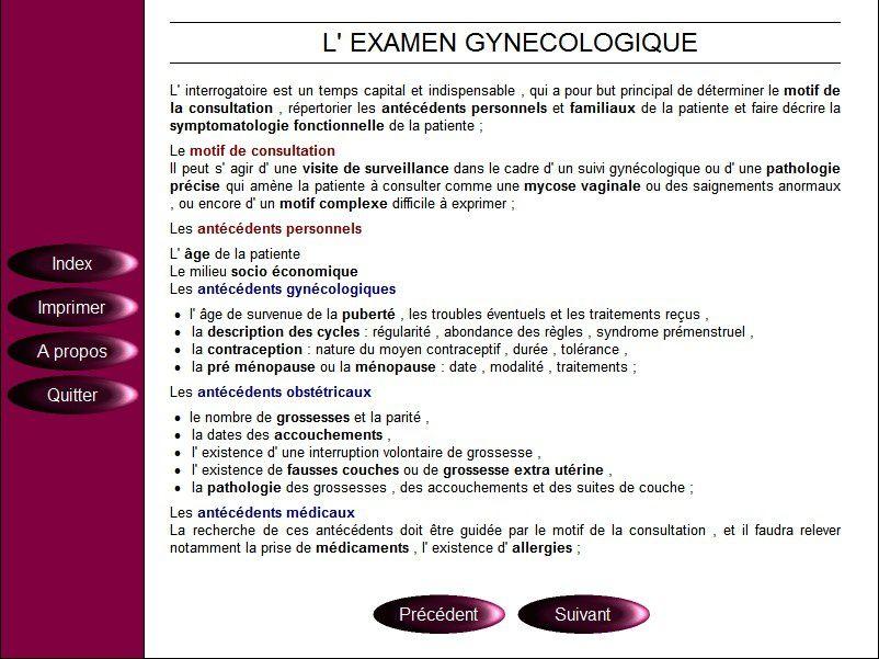 Télécharger le CD-ROM des cours de sémiologie médicale de Gynécologie obstétrique