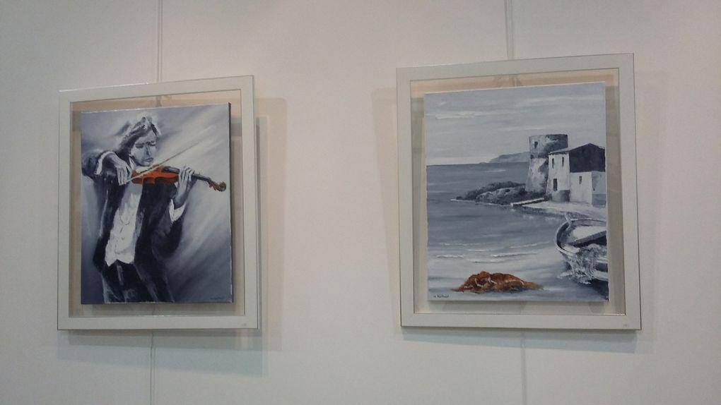 Exposition de peintures Salle Ravaisou&quot&#x3B;Mr Jean-MarcBarthalot et Mr Alain Thernisien