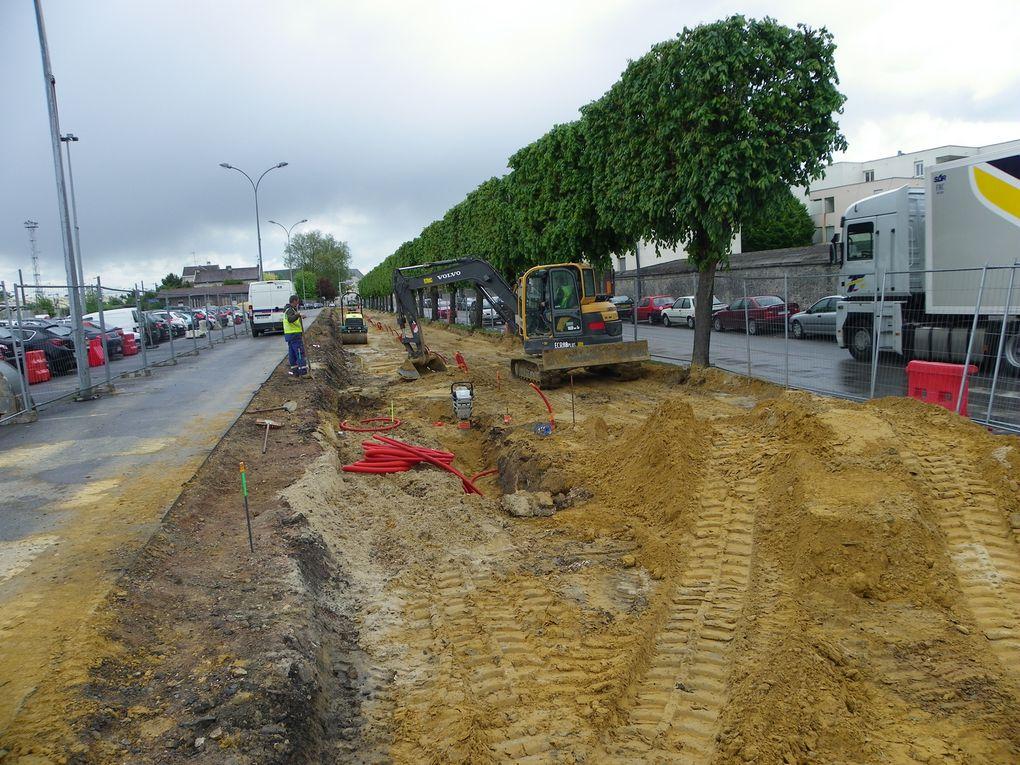Crépy en Valois - Les travaux du cinéma et du boulevard Victor Hugo mai 2013