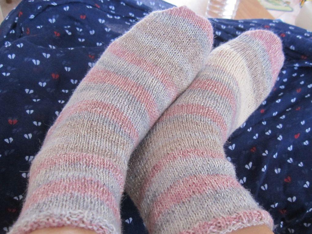j ai tricoté mes chaussettes!!