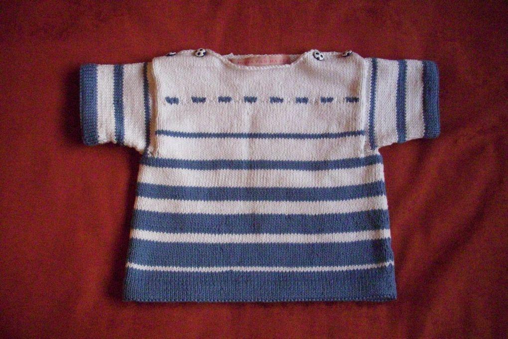 4 versions d'un petit pull en coton
