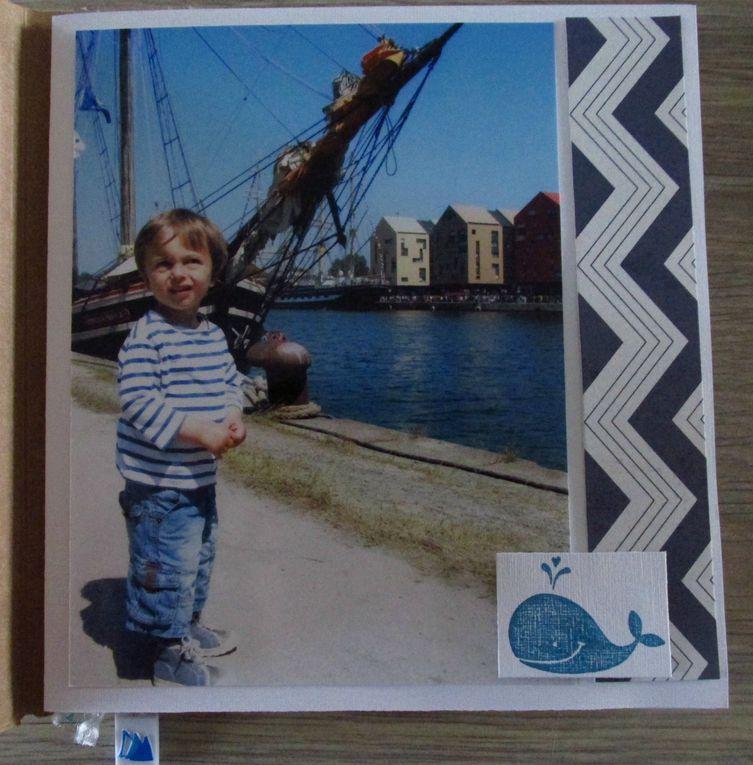 Mini album scrap : thème la mer