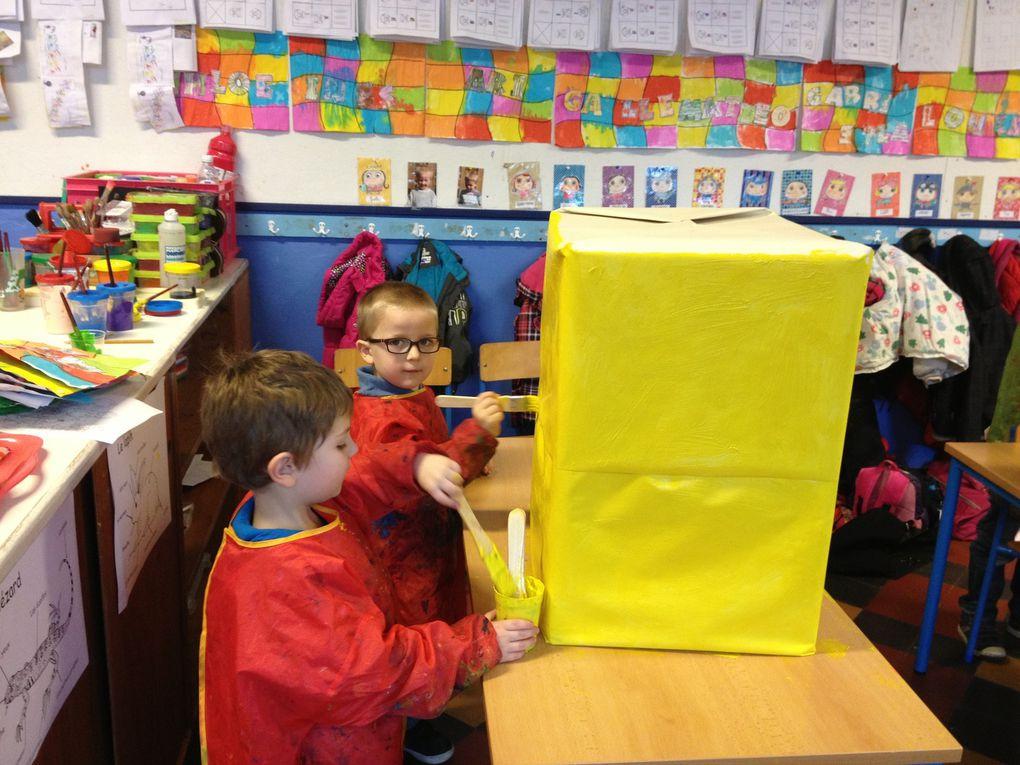 Nous avons fabriqué un totem.